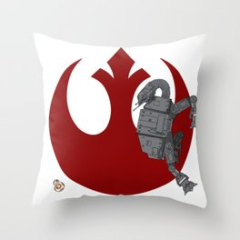 Droid Eek! (red) Throw Pillow