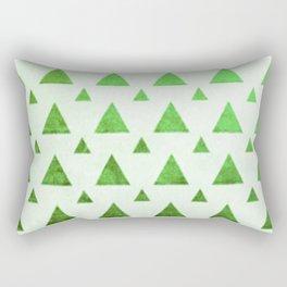 mint triangles Rectangular Pillow