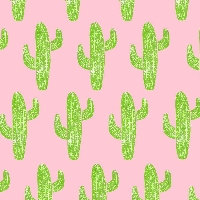 Linocut Cacti Minty Pinky Leggings