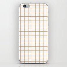 Grid (Bronze/White) iPhone & iPod Skin