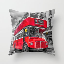 London Routemaster 15 Throw Pillow