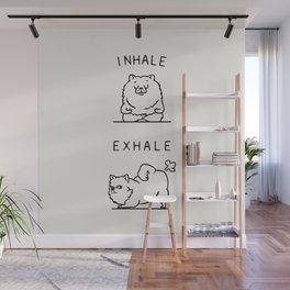 Inhale Exhale Pomeranian Wall Mural