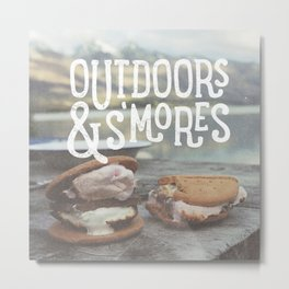 outdoors & S'mores Metal Print