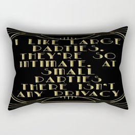 I like large parties - The Great Gatsby Rectangular Pillow