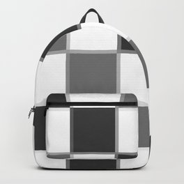 Slate & Gray Checkers / Checkerboard Backpack