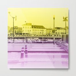 Brussels Canal District Metal Print