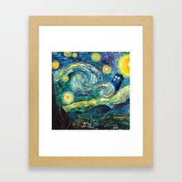Tardis Art Starry Painting Night Framed Art Print