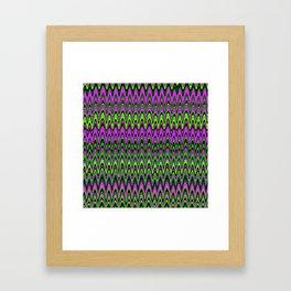 Making Waves Neon Lights Framed Art Print