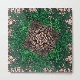 Pine Needles and Cones I Metal Print