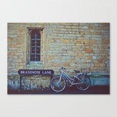 Bike, Wall and Window- Oxford, England Canvas Print