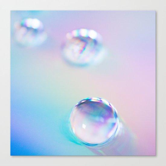 droplets*blue Canvas Print