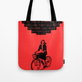 in my world Tote Bag