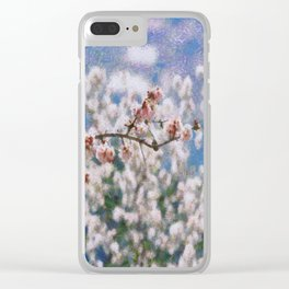 Blooming Almond Tree Clear iPhone Case