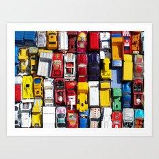 Toy Cars Art Print