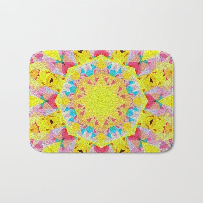 Organic Peace Oil Painting Mandala Bath Mat
