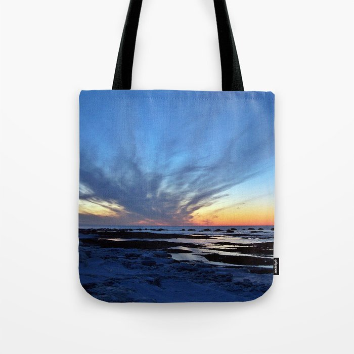 Cloud Streaks at Sunset Tote Bag