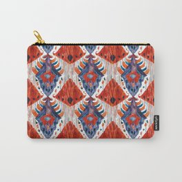 crush balinese ikat mini Carry-All Pouch
