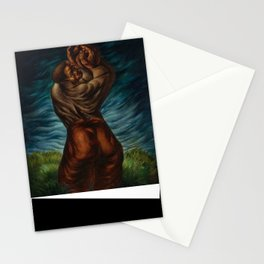 African-American Masterpiece 'Spiritual'  - Prayer for the Departed by Charles White Stationery Cards