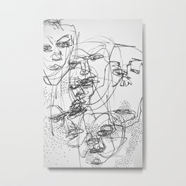 Faces #3 Metal Print