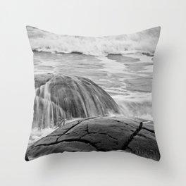 Rocky Shore Icing Throw Pillow