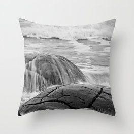 Rocky Shore Icing Throw Pillow