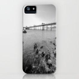 Llandudno Peir Bw iPhone Case