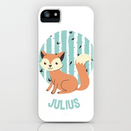 Cute Fox on a Forest Background iPhone Case
