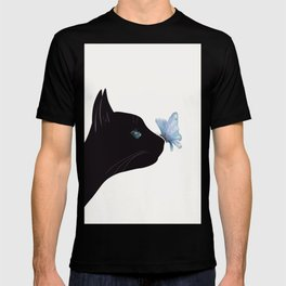 Cat and Butterfly T-shirt