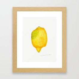 Fresh Lemon Watercolor Framed Art Print