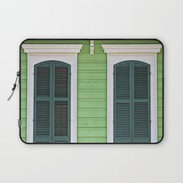 Green Creole Cottage Laptop Sleeve