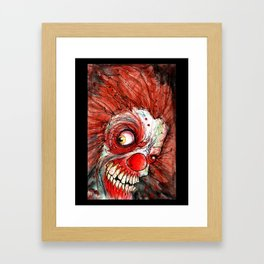 zombie clown Framed Art Print