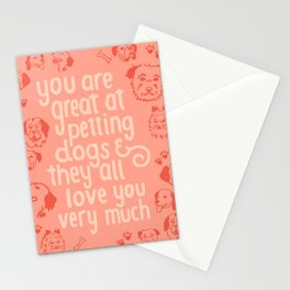 The Best Compliment (peach) Stationery Cards