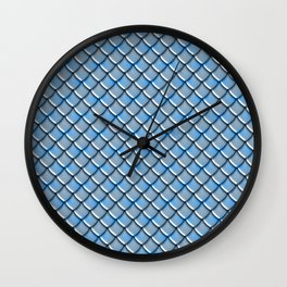 Blue Steel Dragon Scales Wall Clock