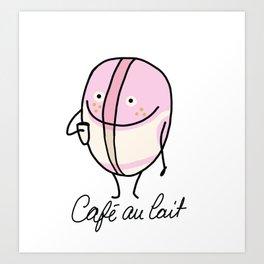 Café au lait Art Print