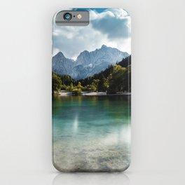 Lake Jasna in Kranjska Gora, Slovenia iPhone Case