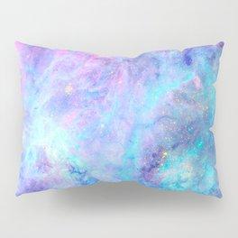 Bright Tarantula Nebula Aqua Lavender Periwinkle Pillow Sham