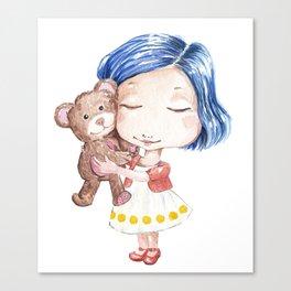 Hug a Bear Canvas Print