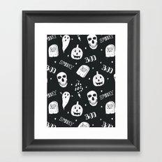 Boo Framed Art Print