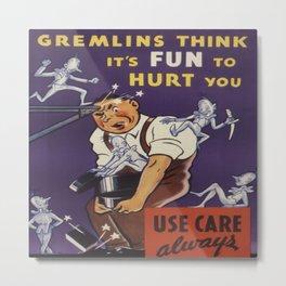 Illustrative Humor Poster Metal Print