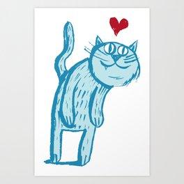 Luuuurv Cat Art Print