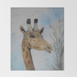 Giraffe Smile Throw Blanket