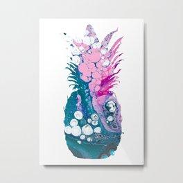 Pink Pineapple Metal Print