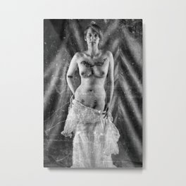 Distressed Bride. Metal Print