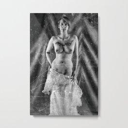 Distressed Bride. Metal Print