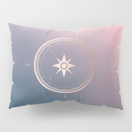 The Edge of Tomorrow - Rosegold Compass Pillow Sham