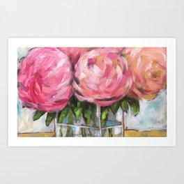Pink Posies Art Print