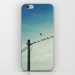 stepping out of line iPhone Skin