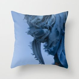 Sacred Blue Throw Pillow