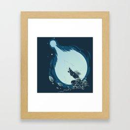 Goku's Kamehameha Framed Art Print