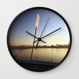 Pollution Permitted Wall Clock